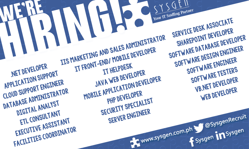 July 3: IT Job Openings - The Puzzle Piece