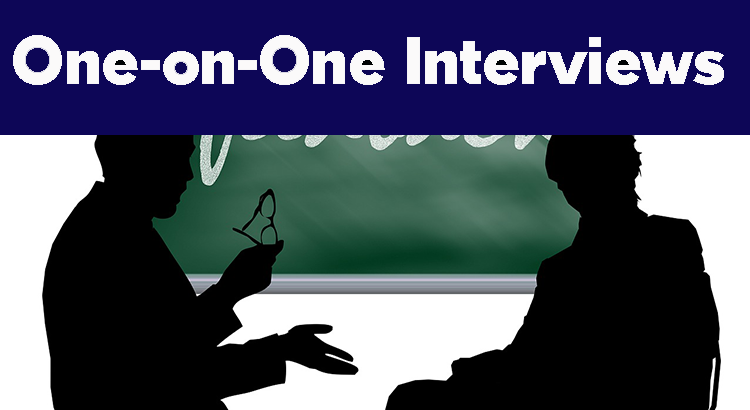 one-on-one job interviews